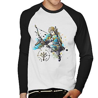 Legend Of Zelda Link Watercolour Men's Baseball Long Sleeved T-Shirt
