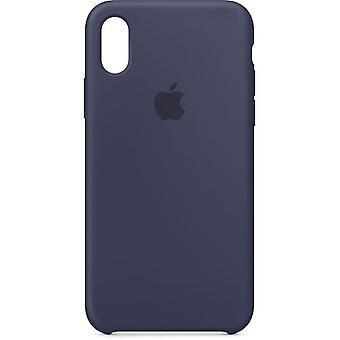 Packaging MQT32ZM/A Apple silicone Micro Fiber cover case for iPhone X - blue