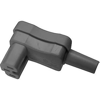 Hot wire connector Socket, right angle Total number of pins: 2 + PE 10 A Grey Kaiser 1 pc(s)