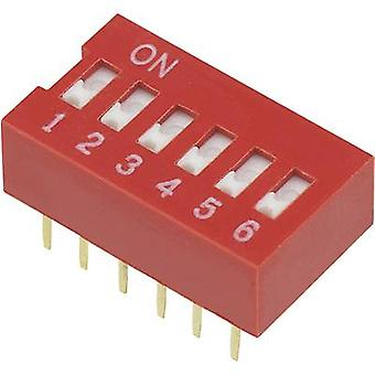 DIP switch Number of pins 6 Slide-type TRU COMPONENTS DSR-06 1 pc(s)