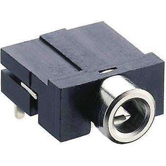 Lumberg KLBR 4 3.5 mm audio domkraft Socket, horisontella mount antal stift: 3 Stereo svart 1 dator