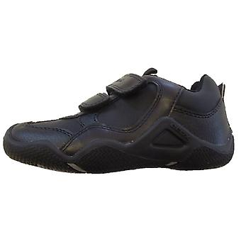 Geox jungen Wader Schule Schuhe schwarz