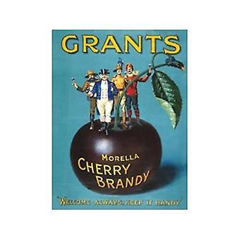 Zuschüsse Cherry Brandy Stahl Wandschild