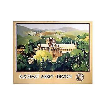 Buckfast аббатство Девон (старый железнодорожный Н.э.) Холодильник магнит