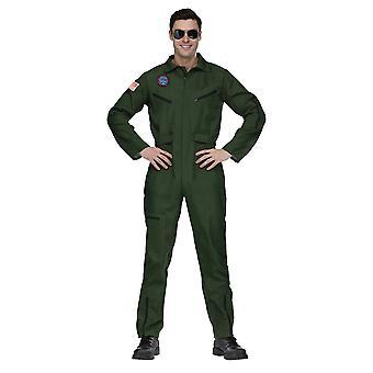 Top Gun Aviator Naval Fighter Navy Pilot Official Look Jumpsuit Mens Costume OS