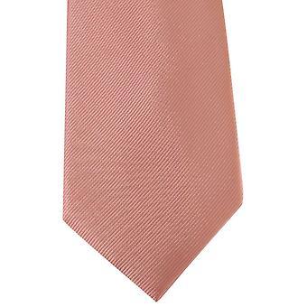 David Van Hagen Diagonal Ribbed Tie - Pink