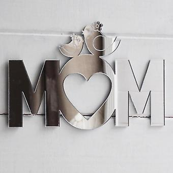 Cute Birds on MOM Text Acrylic Mirror