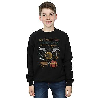 Harry Potter Boys All I Want For Christmas Sweatshirt