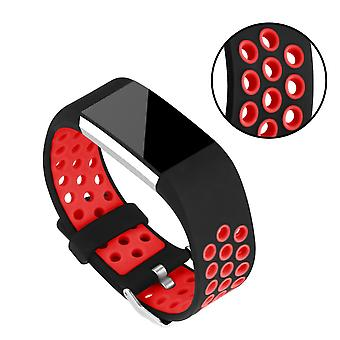Silicone Strap to the Fitbit Charge 2-Red/Black