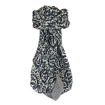 Тутовых шелковый Классические площади шарф Amba черный & белый, пашмины & шелка
