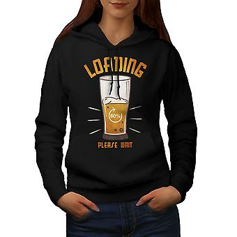 Bier laden vrouwen BlackHoodie | Wellcoda