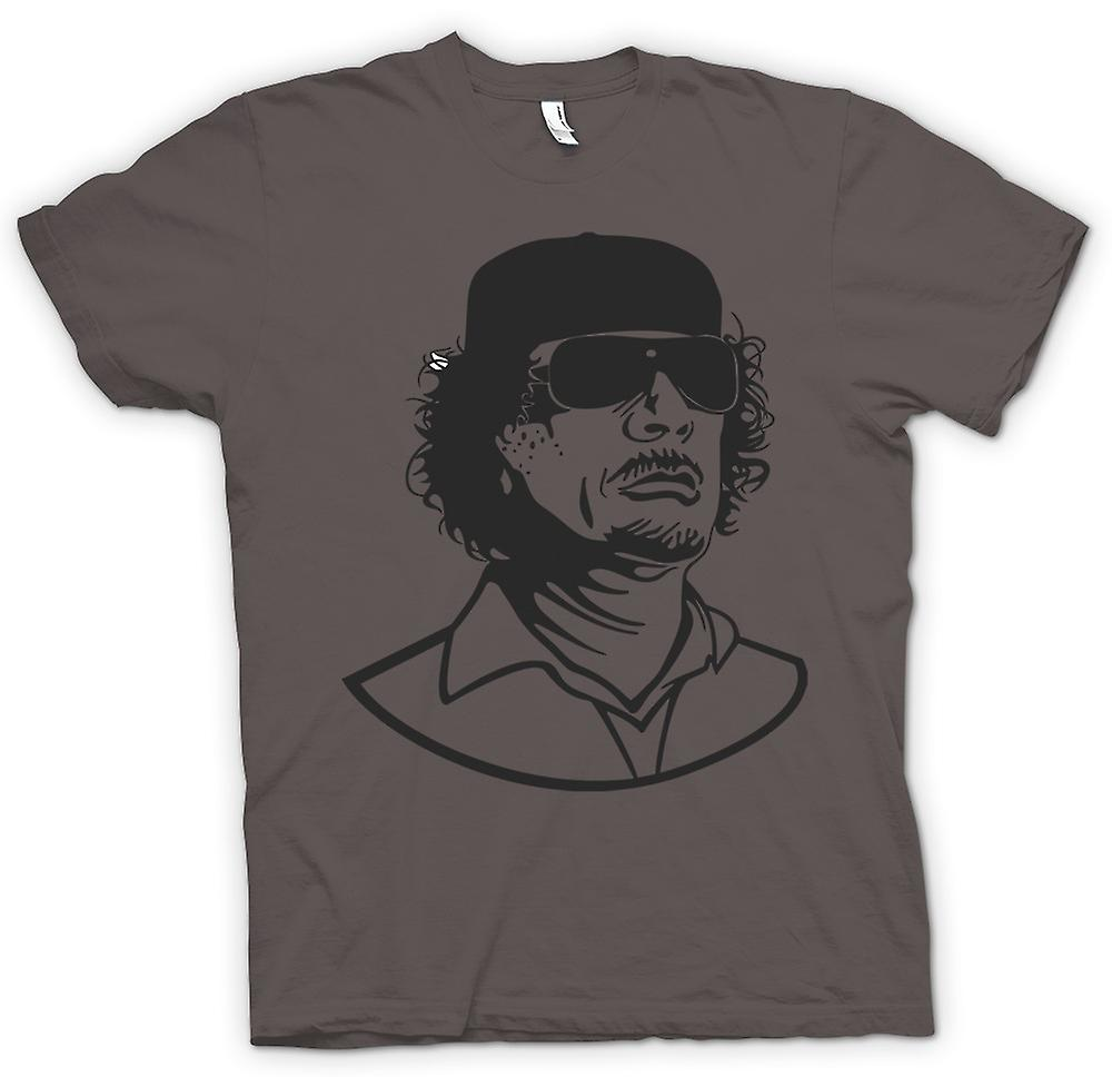 Womens T-shirt - Gaddafi - Libyan Dictator Portrait