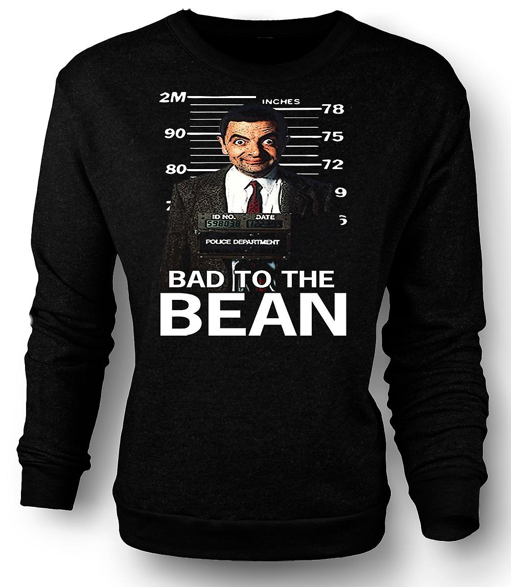 Mens felpa Mr Bean Bad a fagiolo Mug Shot - commedia