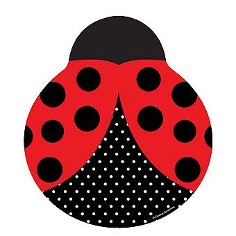 Creative Converting 9in Ladybird Shaped Plates (Pack Of 8)