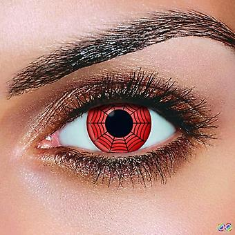 Red Web Contact Lenses(Pair)