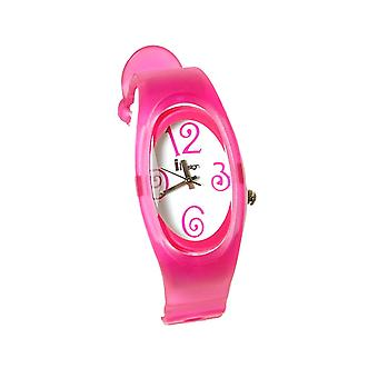 Insign Translucent Pink Ripple Strap Surfer Style Watch