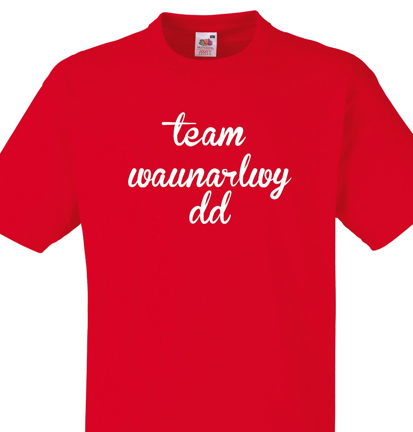 Team Waunarlwydd Red T shirt