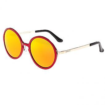 Breed Corvus Aluminium Polarized Sunglasses - Red/Red-Yellow