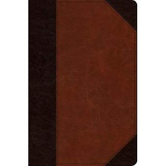 ESV Verse-By-Verse Reference� Bible (Trutone, Brown/Cordovan, Portfolio Design)