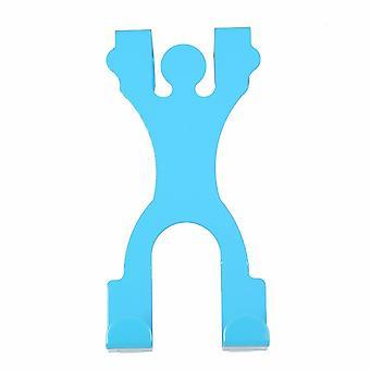TRIXES Blue Man Silhoutte metall dør kroken rustfritt stål plassbesparende hengende lagring hjelp