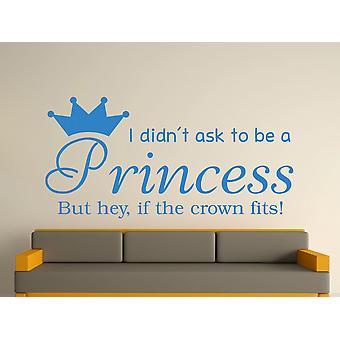 Being A Princess v2 Wall Art Sticker - Olympic Blue