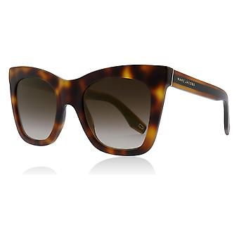 Marc Jacobs MARC 279/S 086JL Dark Havana MARC 279/S Cats Eyes Sunglasses Lens Category 3 Lens Mirrored Size 50mm