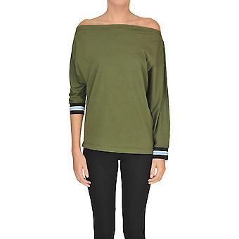 Pinko Green Cotton Sweater