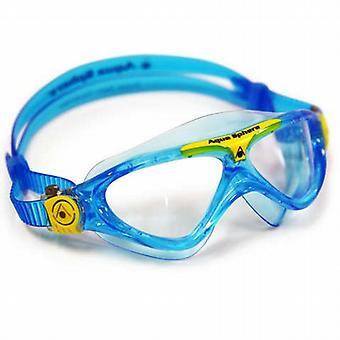 Aqua Sphere Vista junior Swim Goggle - Clear Lens - Bleu / Jaune Accent