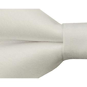Dobell Mens Ivory Bow Tie Dupion Satin-Feel Pre-Tied