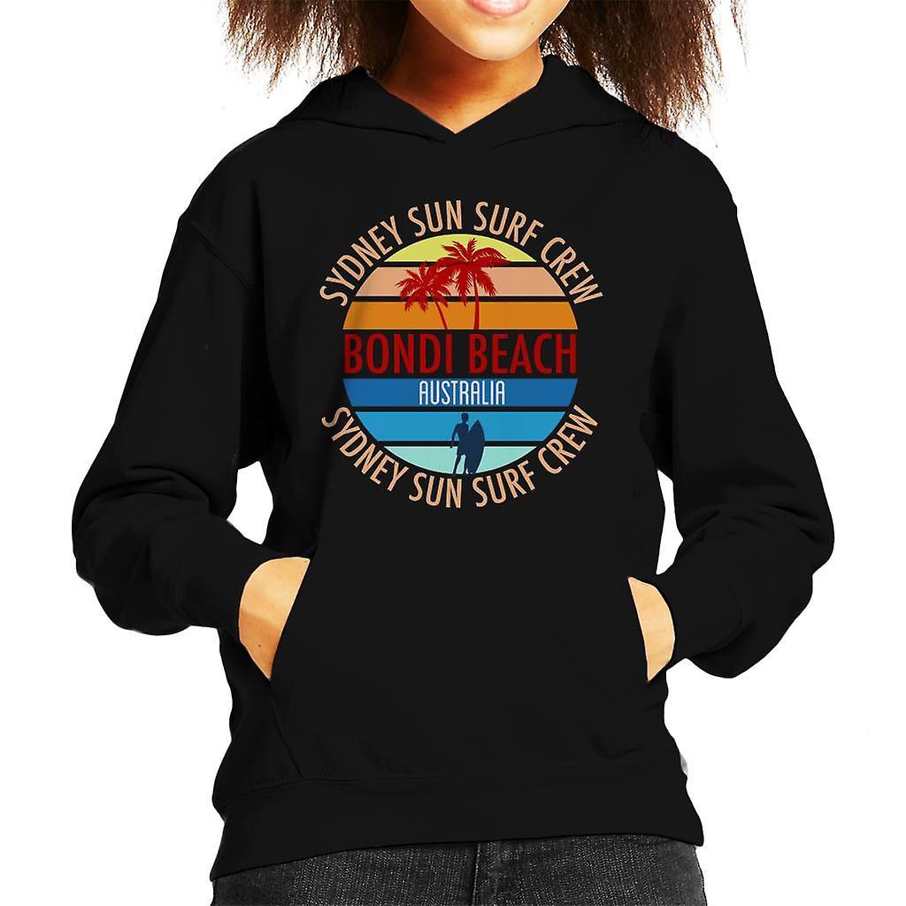 Bondi Beach Sydney Sun Surf bemanning Retro Kid de Hooded Sweatshirt