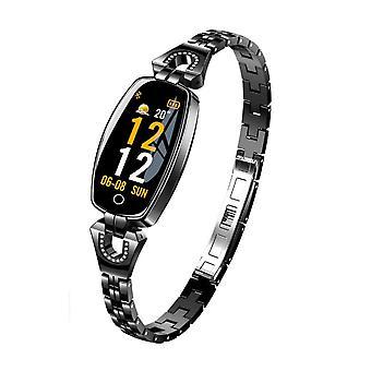 H8 Activity bracelet with crystals-Black