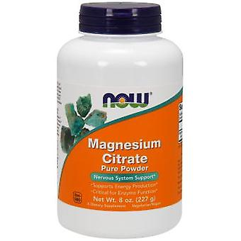 Now Foods Magnesium Citrate Pure Powder 227 gr (Witaminy i suplementy , Minerały)