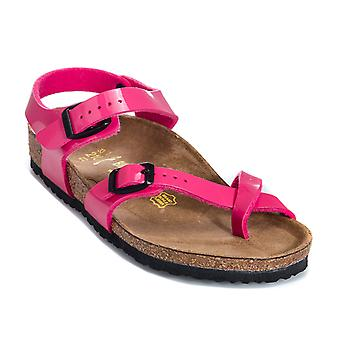 Infant Girls Birkenstock Taormina Kinder Sandals In Pink- Anatomic Sole - Buckle