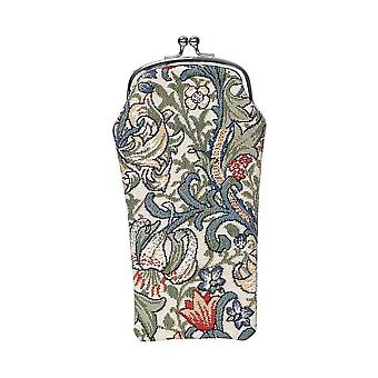 William Morris - Golden Lily Glasses Pouch by Signare Tapestry / GPCH-GLILY