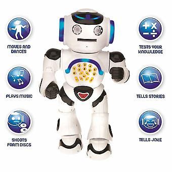 Lexibook Powerman Walking Talking Toy Educational Robot - Black/White (ROB50EN)