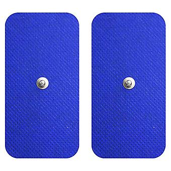 MED-FIT 5x10cm Pack of 40 Flexi Stim 3.5mm Stud TENS Self-Adhesive Pads