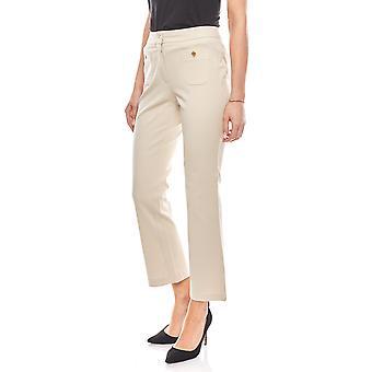 vivance collection pants stylish ladies business Pant short size beige