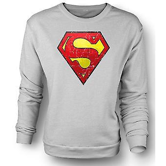 Womens Sweatshirt Superman Distressed Logo - Cool