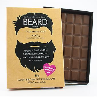 Funny Valentine's Day Gift for Bearded Men Beard Lover Present Chocolate Greeting Card BTQ123