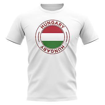 Hungary Football Badge T-Shirt (White)