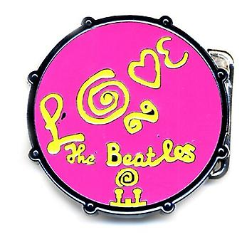 The Beatles Belt Buckle Love Drum Band logotipo Pink new Official Metal