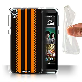 STUFF4 Gel/TPU sak/Cover for HTC Desire 820s dobbelt/japansk/svart/Racing bil striper