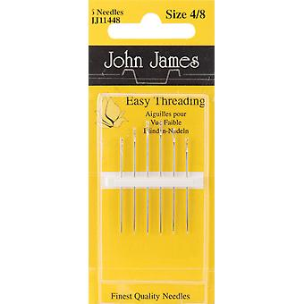 Easy Threading Calyxeye Hand Needles Size 4 8 6 Pkg Jj114 48