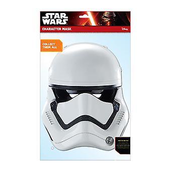 Primera orden oficial de Stormtrooper Star Wars la fuerza despierta tarjeta Fiesta mascarilla