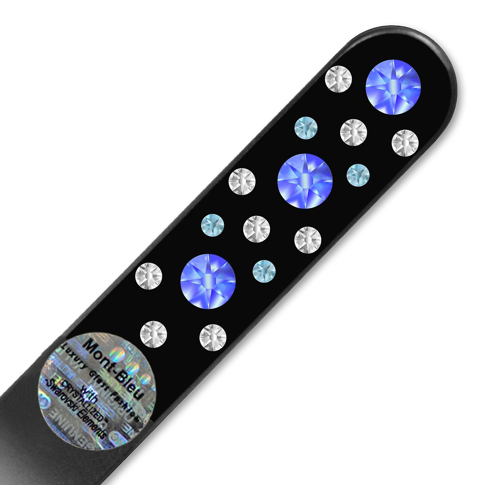 Glass nail file with Swarovski crystals CNB-M1-7