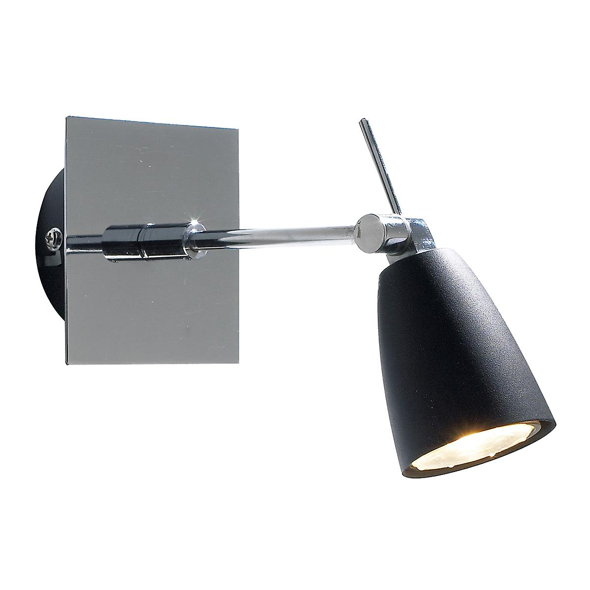 Dar EMP0750 Empire Modern Switched Wall Spotlight With Black Shades