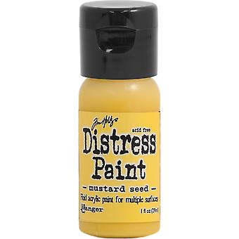 Distress Paint Flip Cap 1oz-Mustard Seed TDF-53125