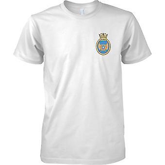 HMS Richmond - aktuelle königliche Marineschiff T-Shirt Farbe