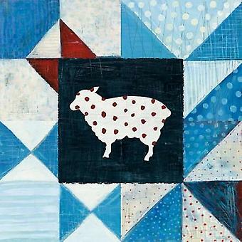 Granja Americana moderna colcha VI cartel grabado por Melissa Averinos