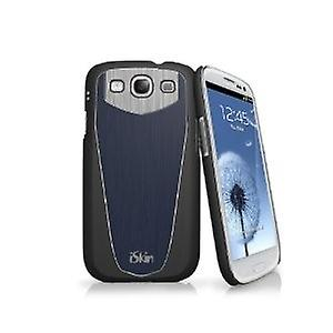 iSkin Aura Eclipse hard cover, case for Samsung Galaxy S3 i9300 - Blue / Black